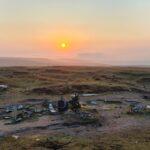 Visit to the crash site at sunrise