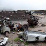 "USAF B-29 Superfortress 44-61999 ""Over Exposed"" at Higher Shelf Stones, Bleaklow, Dark Peak."