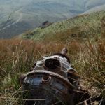Cheetah engine at crash site of Avro Anson NL185, Kinder Scout, Peak District.
