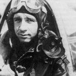 Second Lieutenant Del Harris in the cockpit of a P47 Thunderbolt