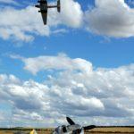 FW 190 F-AZZJ with Lufthansa Ju-52 D-AQUI above.