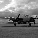 RAF B-25 Mitchell wearing Invasion Stripes.