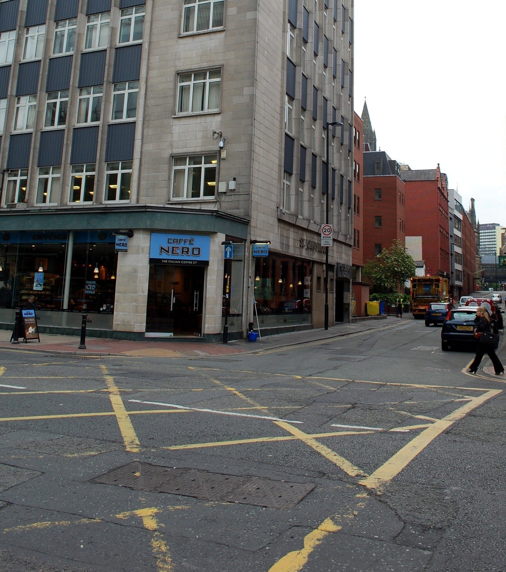 Corner of Deansgate and Lloyd St.