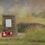 Memorial at crash site of Halifax RT922, Grindon, Staffordshire
