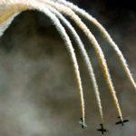 The Aerostars flying Yakovlev YAK-50s
