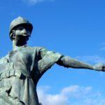 Le Monument aux Morts, Trévières, Normandy.