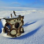 Winter visit to crash sites of Liberator 42-52003 and Sabres XD707 & XD730