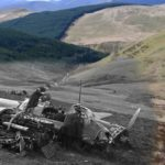 Crash site of Ju88 4U + BL, 1km SW of Drum Ddu, Wales