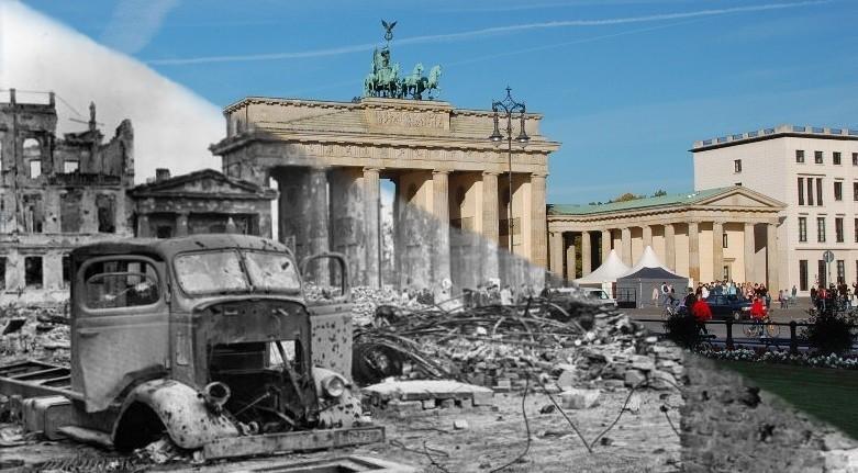 Brandenburg Gate Berlin Then Amp Now Aircrashsites Co Uk