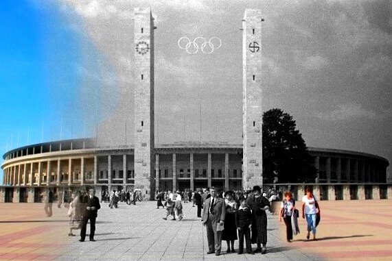 Olympic Stadium, Berlin, Then & Now.