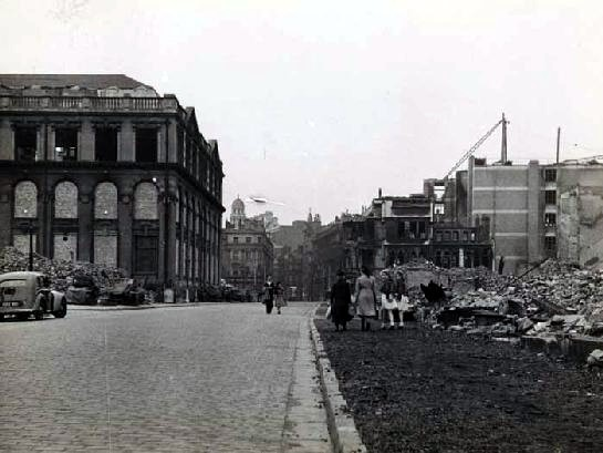 2. Bomb damage, South John Street looking towards Lord Street 34 May 1941